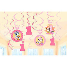 Baby Minnie Mouse First Birthday Hanging Swirl Decorations Party Supplies ~ 1st