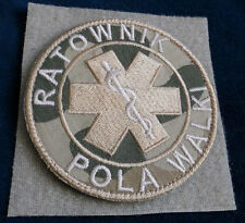 PARAMEDIC PATCH Polish Army desert camouflage Genuine velcro  Special Force GROM