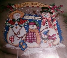 Dimensions 8578 Snow Family Holiday Counted Cross Stitch 1998 Victoria Howard