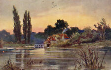 Pretty Postcard Painting of IFFLEY MILL, NEAR OXFORD, OXFORDSHIRE Tuck's (A2)
