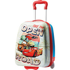 "American Tourister Disney Hardside 18"" Upright - Cars Small Rolling Luggage NEW"