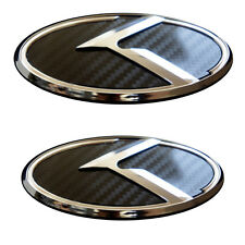Front(Hood)&Rear(Trunk) 3D Carbon Emblem Badge for 12 13 14 2015+ Kia Optima/K5