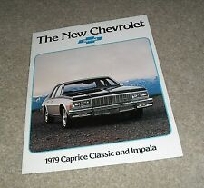 Chevrolet Caprice Classic & Impala Brochure 1979