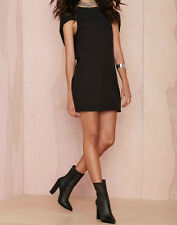 Nasty Gal Fly High Cape Dress black new with tags SMALL