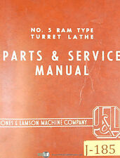 Jones & Lamson 5, Ram Type Turret Lathe, Instructions Manual 1959