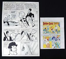 ESL071. RICHIE RICH Vault of Mystery #3 Complete 5 Page Story -Harvey Comics
