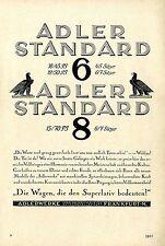 Adlerwerke Frankfurt M. Adler Standard 6 und 8  Die Wagen die den Superlativ1928