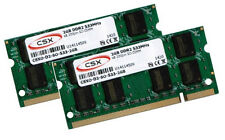 2x 2gb 4gb Notebook MEMORIA RAM ddr2 533 MHz così DIMM pc2-4200s 200 pin CSX