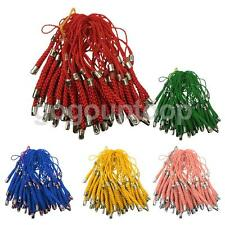 50x Braided Cellphone Mobile Phone Cord Charms Straps Lariat Lanyards 7cm