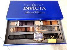 Invicta Men's Lupah Special Edition Trinite Night Glow Watch  Five-Strap Set NIB
