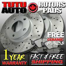 C0204 FIT 2001 2002 2003 2004 Ford Escape Cross Drilled Brake Rotors Pads F