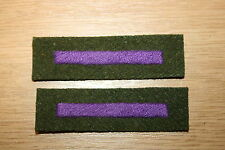 WW2  BRITISH ROYAL ARMY CHAPLAIN'S DEPT CLOTH ARM BRANCH OF SERVICE STRIPES #2