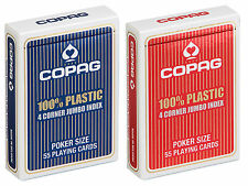 2 x COPAG PLAYING CARDS 100% Plastic POKER single deck