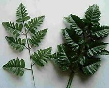 15 SILK LEATHER FERN  LEAF STEMS  FOR MAKING OFFICE SILK FLORAL ARRANGEMENTS