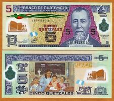 Guatemala, 5 Quetzales, 2011 (2013), P-New, New date and signature, POLYMER, UNC