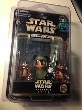 DISNEY Mickey Mouse Luke SKYWALKER Chip Dale Ewoks STAR WARS WEEKENDS 2013 RARE