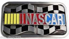 NASCAR BELT BUCKLE Enamel Finish Metal 4 x 2 1/4