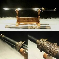 "TOP Quality Hand Forge Chinese Sword ""Han Jian"" Manganese Steel Sword Sharp"