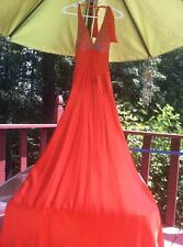 Womens orange Jovani prom or pageant dress size 0, 100% silk, halter top