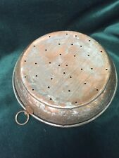 Early Copper Pierced Sieve  ~Old and  Original - BC12