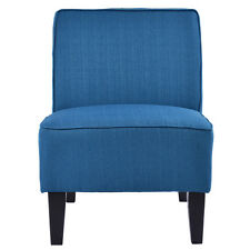 Accent Chair Armless Contemporary Dining Chair Living Room Furniture Blue New