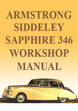 ARMSTRONG SIDDELEY SAPPHIRE 346 WORKSHOP MANUAL - RARE