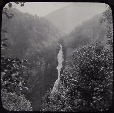 Glass Magic Lantern Slide STALHEIM WATERFALL DATED 1934 PHOTO NORWAY