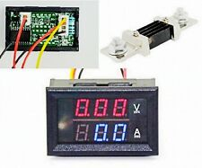 DC 300V 500A Dual LED Digital Volt Amp Voltage Power Meter + 500A/75mV Shunt ca