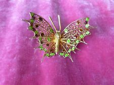 VINTAGE STERLING SILVER AND ENAMEL BUTTERFLY PIN
