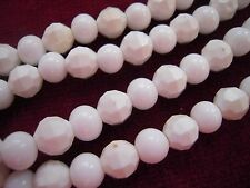 """Vintage 26"""" Long  WHITE Lucite Beaded Necklace MODERNIST"""