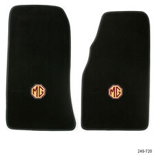 NEW MGB ULTRA PLUSH FLOOR MATS 1968-1980 BLACK WITH LOGO