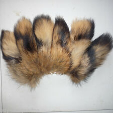 10pcs/lot Real Large Natural Raccoon Tail Fur Keychain Tassel Bag Tag Charm Gift