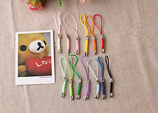 Wholesale 100 Pcs Cell Mobile Phone Dangle Strap/Lariat Charm Lanyard Cord 86mm