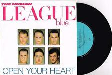 """THE HUMAN LEAGUE - OPEN YOUR HEART - 7"""" 45 VINYL RECORD w PICT SLV - 1981"""
