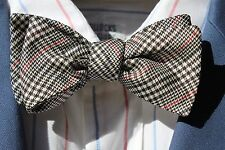 Ferrell Reed Black, White, & Red Prince of Wales Check Self-Tie Silk Bow Tie