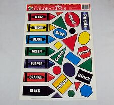 Window Clings ~ Primary Colors & Shapes ~ 28 Reusable Static Cling Stickers
