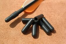6 x Pocket Shot Black Arrow Nock Caps - catapult slingshot