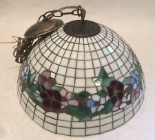Tiffany Style Hanging Lamp Stained Glass Light Ceiling Lighting Fixture 15 Inch