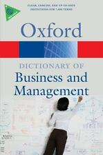 A Dictionary of Business and Management (Oxford Paperback Reference)