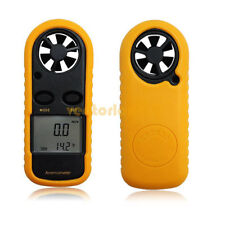 LCD Speed Wind Meter Scale Digital Temperature Anemometer Thermometer UK Stock