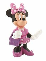Minnie Mouse with Handbag Figurine - Disney Bullyland Toy Figure Cake Topper
