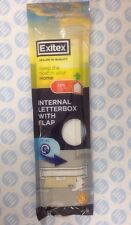 Exitex Letterbox Draught Excluder Seal with Brush & Flap White Plastic New Pack