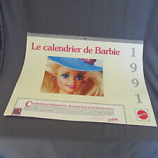 781B Mattel 1991 Le Calendrier de Barbie 28 pages 40 X 30 CM