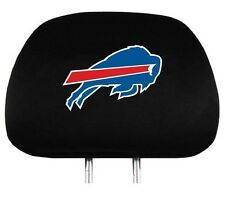 BUFFALO BILLS CAR AUTO 2 TEAM HEADREST COVERS NFL FOOTBALL