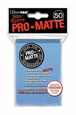 (x100) ULTRA PRO Card Sleeves PRO-MATTE LIGHT BLUE DECK PROTECTORS MTG Pokemon