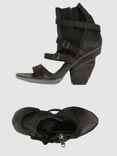 NIB LD TUTTLE black leather sandals The Sheer