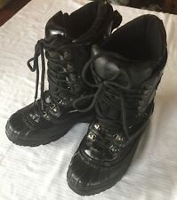 Men's CKX Black Leather Work Boots High Quality Sz 8 M Ski Rugged Thermalite