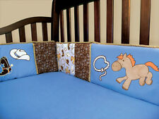 Trend Lab Cowboy Baby - Crib Bumpers 106734 Crib Bedding Set NEW