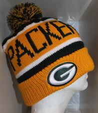 NFL Green Bay Packers CALGARY POM KNIT Cap Beanie with Pom - Yellow