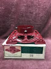 Vintage Traditions Red Cast Iron Christmas Tree Stand very ornate